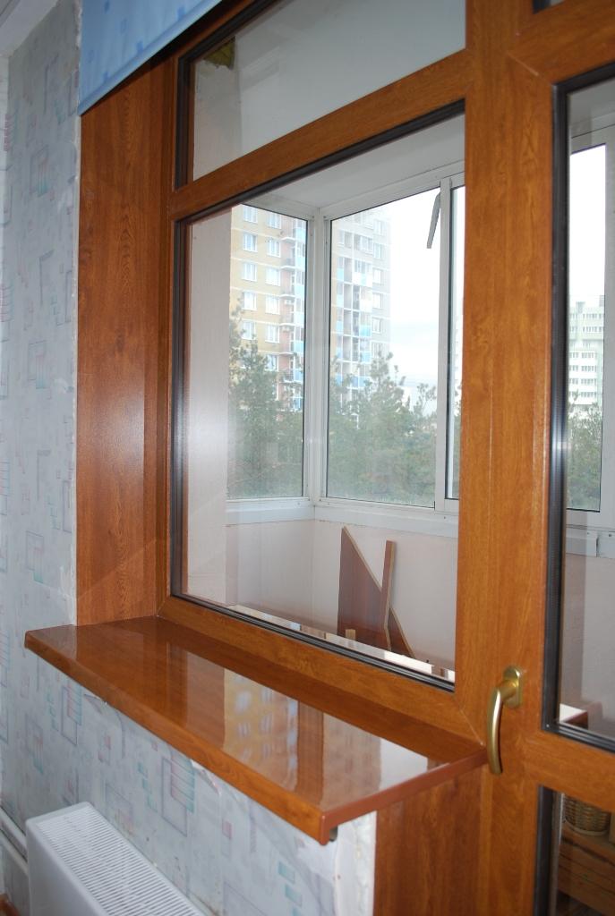 Балконные дверь и окно с перемычкой / установка пластиковых .