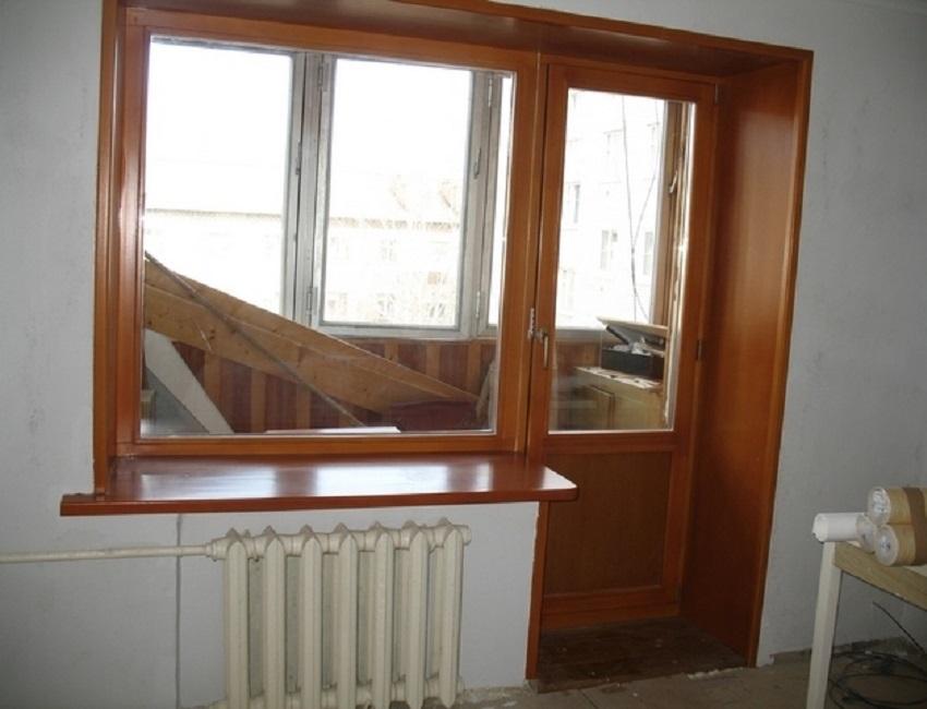 """Деревянные балконные двери фото - альбом мастера ооо """"кдк""""."""